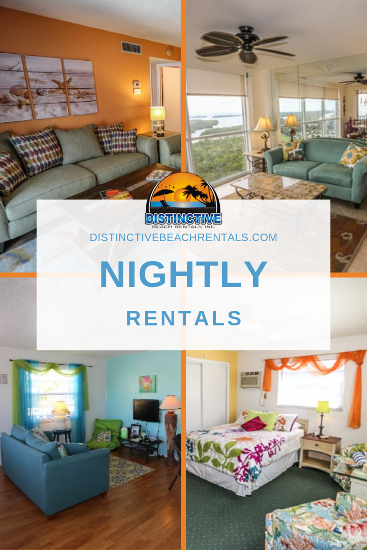 Our vacation home rentals in Fort Myers Beach range from 1 to 8 bedrooms and can accommodate up to 18 guests.
