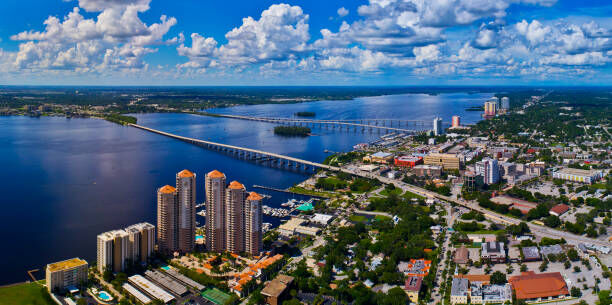 Fort Myers downtown overhead view